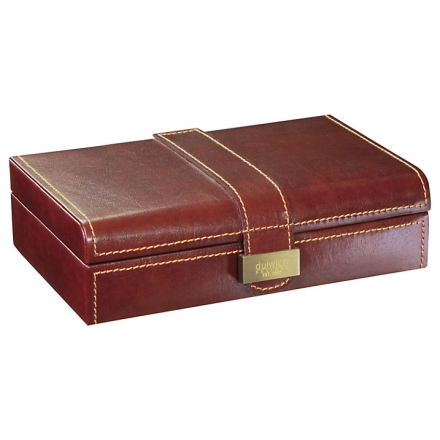 Dulwich Designs Heritage Cufflink Box, Leather