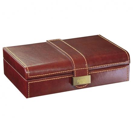 Dulwich Designs Heritage Cufflink Box, Leather
