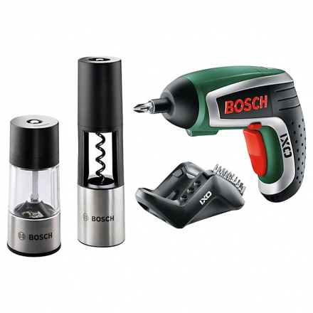 Bosch Gourmet Cordless Screwdriver with Corkscrew & Spice Mill