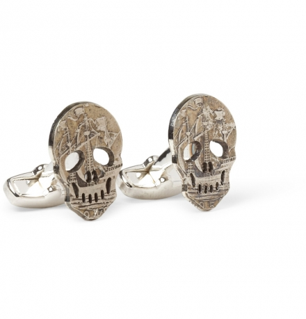 PAUL SMITH SKULL COIN CUFFLINKS