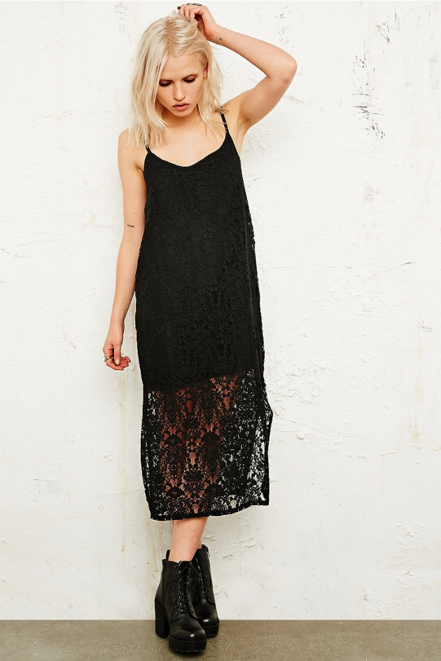 Vintage O&O Burnout Maxi Dress