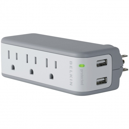 Belkin Mini Surge 3OUT Wall Mount with USB Charger