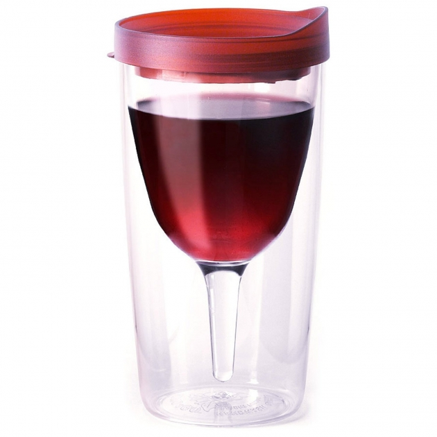 Vino2Go Double Wall Insulated Portable Wine Cup