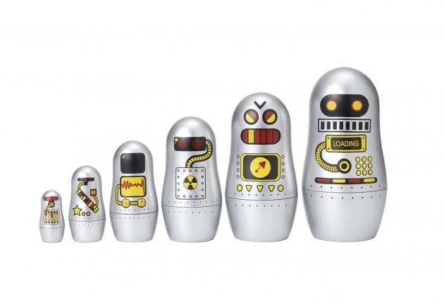 Robot Russian Matryoshka Dolls
