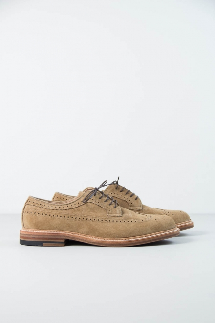 The Bureau Belfast – Tan Suede Long Wing Blucher