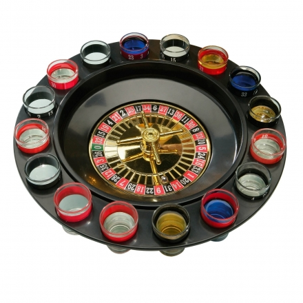 Roulette 16 Glass Lucky Shot Drinking Game