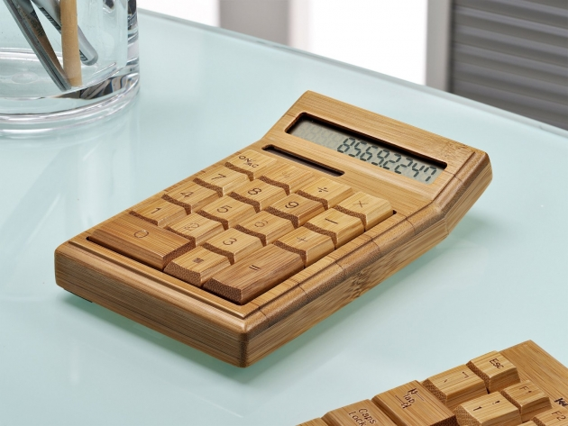 Artis Large Chunky Handmade Crafted Bamboo Wooden Calculator