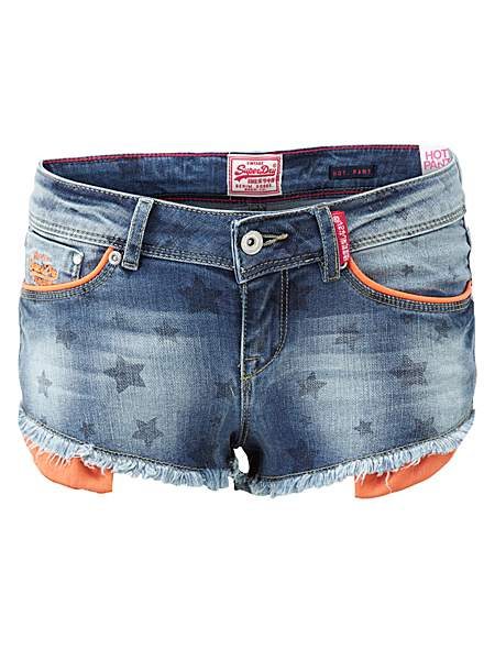 Superdry Raw Edge Hot Pants
