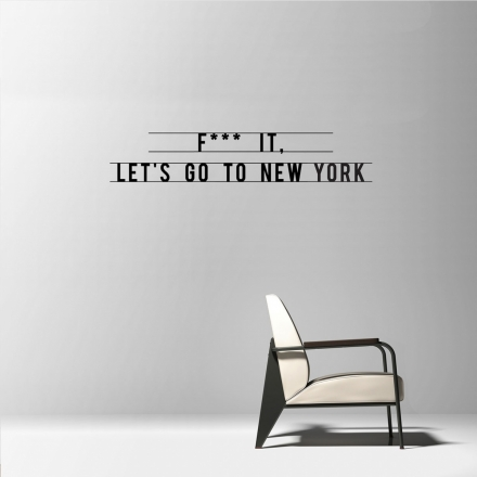 Let's Go To New York sticker