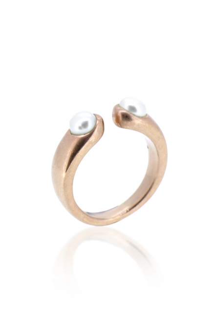 DOUBLE PEARL RING | MAYA MAGAL