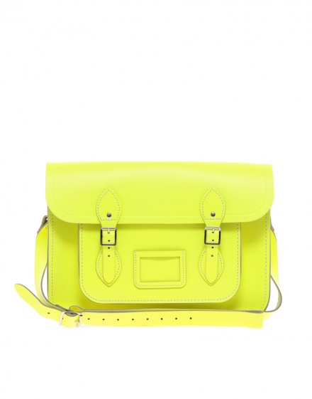 Cambridge Satchel 14 fluoro yellow