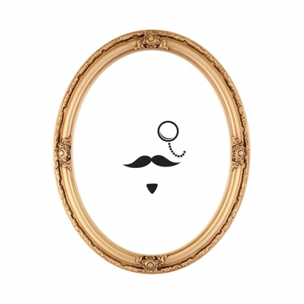 Moustache Mirror sticker