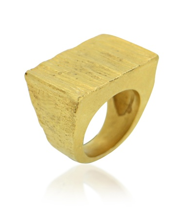 TEXTURED INGOT RING | MAYA MAGAL