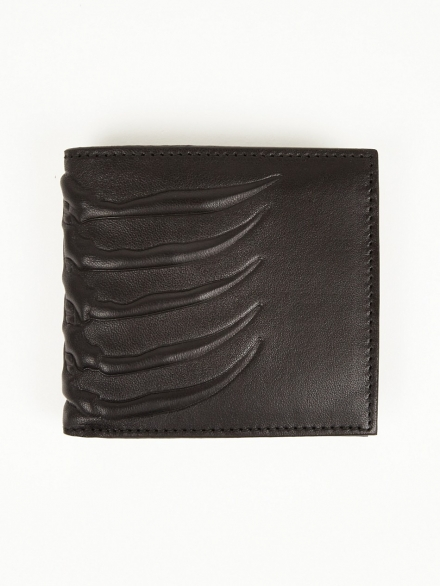 BILLFOLD VERTEBRAE LEATHER WALLET