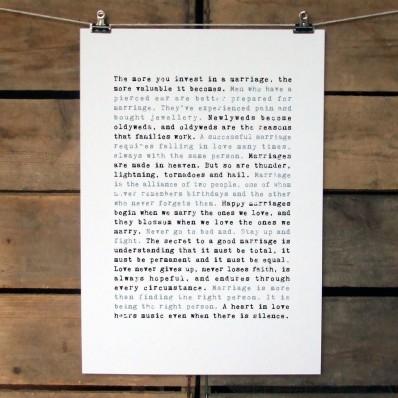 'Wedded Bliss' Print