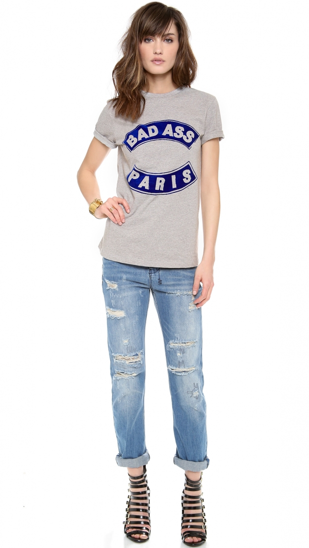 Bad Ass Flocked T-Shirt – Etre Cecile