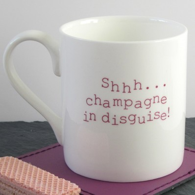 Champagne in disguise mug