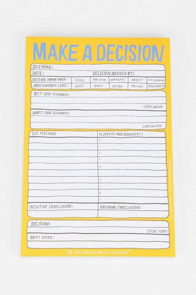 Make a Decision Pad