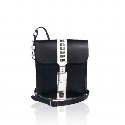 Equis Small Handbag – Black and white