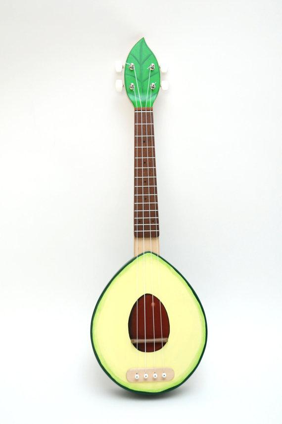 SOLID WOOD Avocado ukulele ( Avolele )