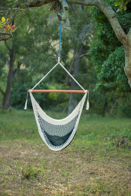 Handmade Striped Hanging Hammock Chair