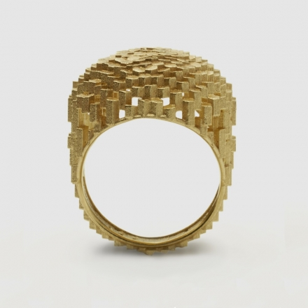 Jo Hayes Ward Flat Oval Hex Ring