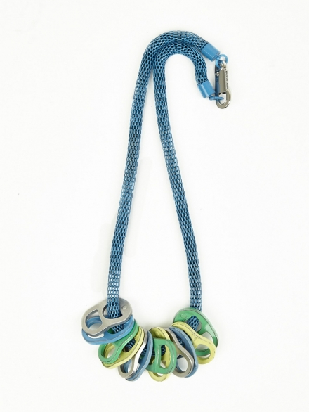 KENZO BLUE RING-PULL NECKLACE