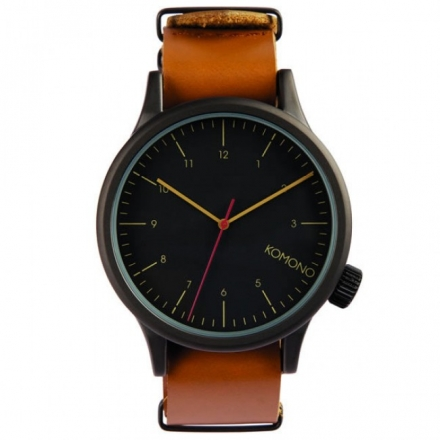 Komono Watch – Magnus – Black/Cognac