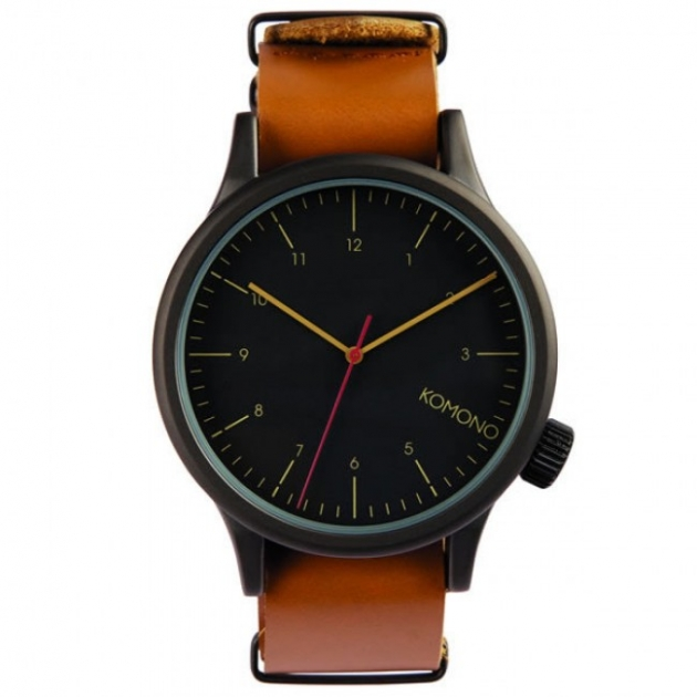 Komono Watch – Magnus – Black/Cognac