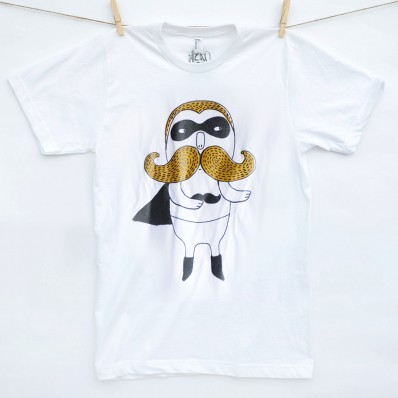 Moustache Hero T-shirt