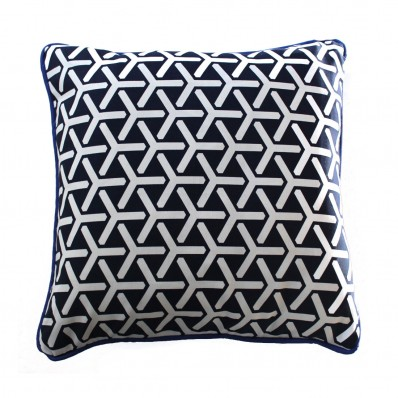 Geo Navy Cushion