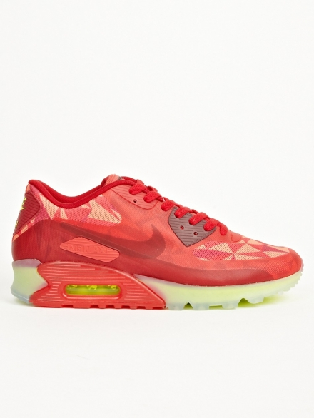 NIKE RED NIKE AIR MAX 90 ICE SNEAKERS
