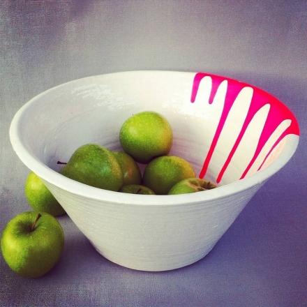 Neon Ceramic Bowl