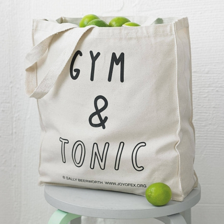 'Gym And Tonic' Tote Bag