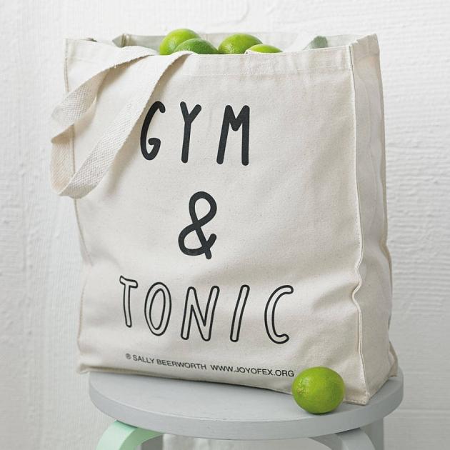 'Gym And Tonic' Tote Bag