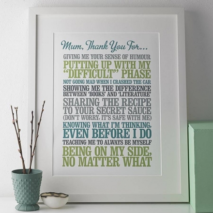 Personalised Thank You Print