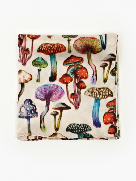 PAUL SMITH MUSHROOM SILK HANDKERCHIEF