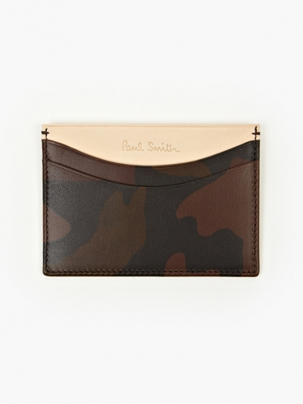 CAMO LEATHER CARD HOLDER | PAUL SMITH
