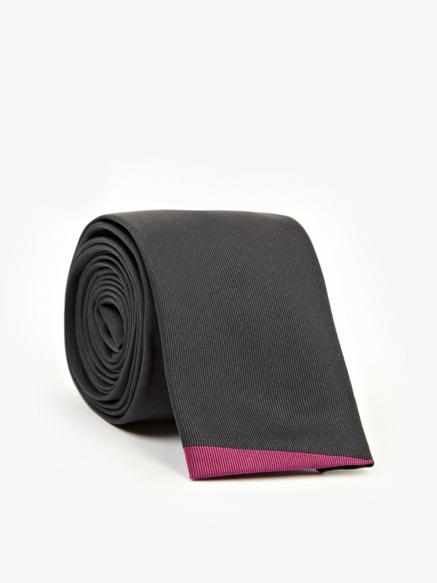 BLACK 5CM SQUARE END TIE | PAUL SMITH