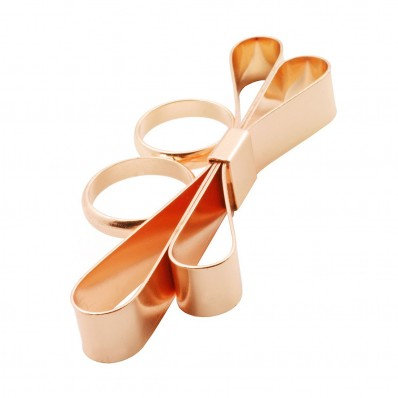 Pixie Lott SACHA Double Finger Bow Ring