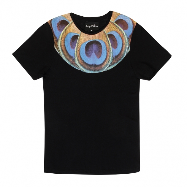PEACOCK NECK PRINT T-SHIRT