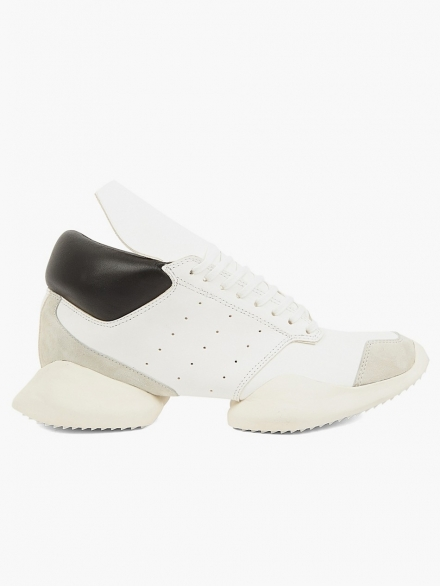 RICK OWENS MEN'S RUNNER IN BLACK AND WHITE