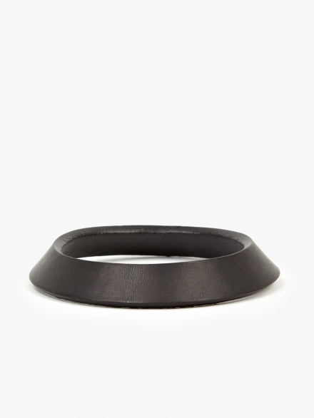 RICK OWENS LEATHER CONE BRACELET