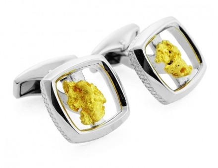 SILVER SQUARE GOLD NUGGET – LIMITED EDITION 50 PAIRS ONLY