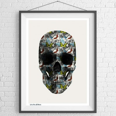 Butterfly Skull Print