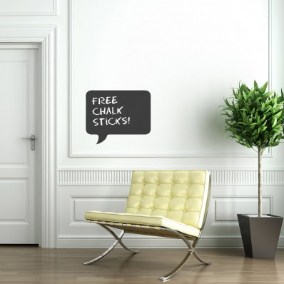 Rectangle Speech Bubble Chalkboard Sticker