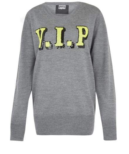 MARKUS LUPFER | GREY SEQUIN V.I.P. JUMPER
