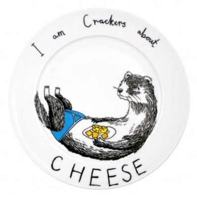 'Cheese Weasel' plate