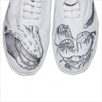 Whale and Plankton shoes