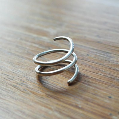 Wrapped around your finger silver ring